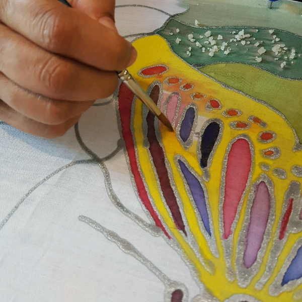 Advanced Silk Fabric Painting Class3