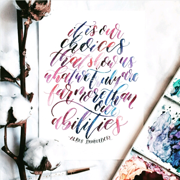 Brush Calligraphy By Eleanor @elliholi