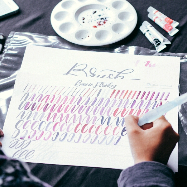 Brush Calligraphy By Eleanor @elliholi1