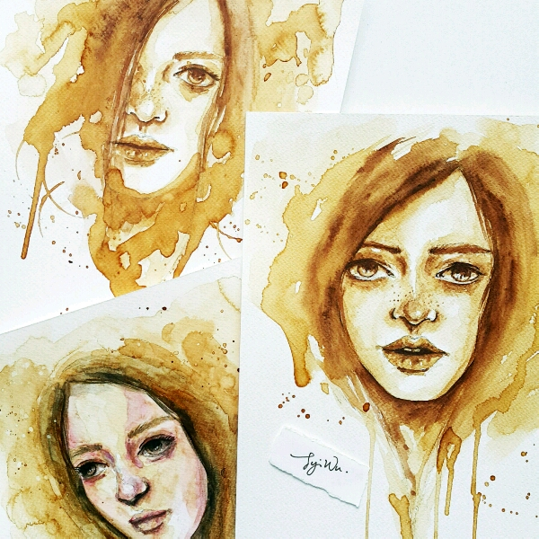 Coffee Watercolour by Zoe @jyiwu.artisst3