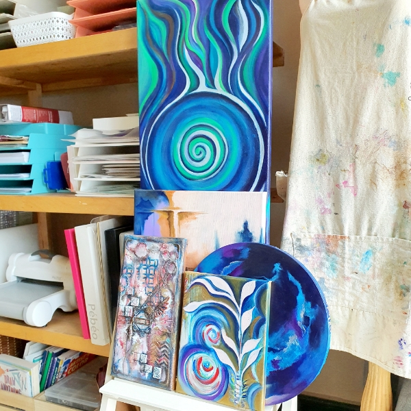 Custom Small Intuitive Art + Reading