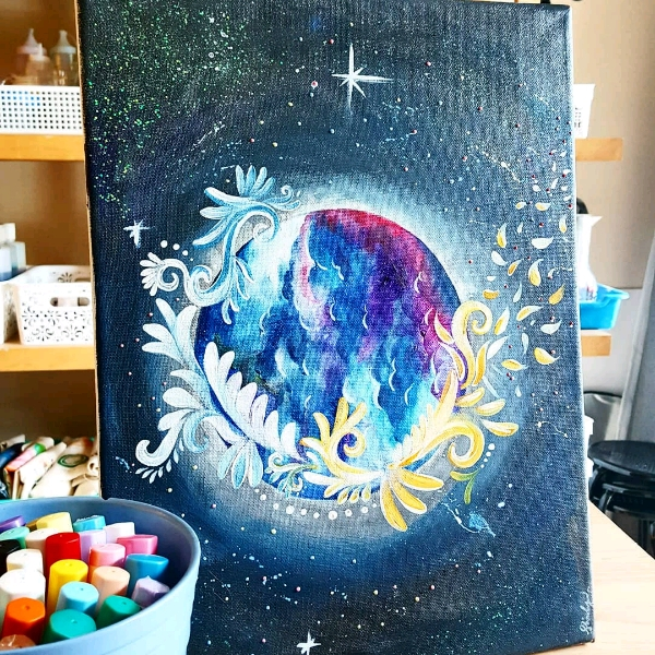 Magical And Fantasy Moon Art Jam