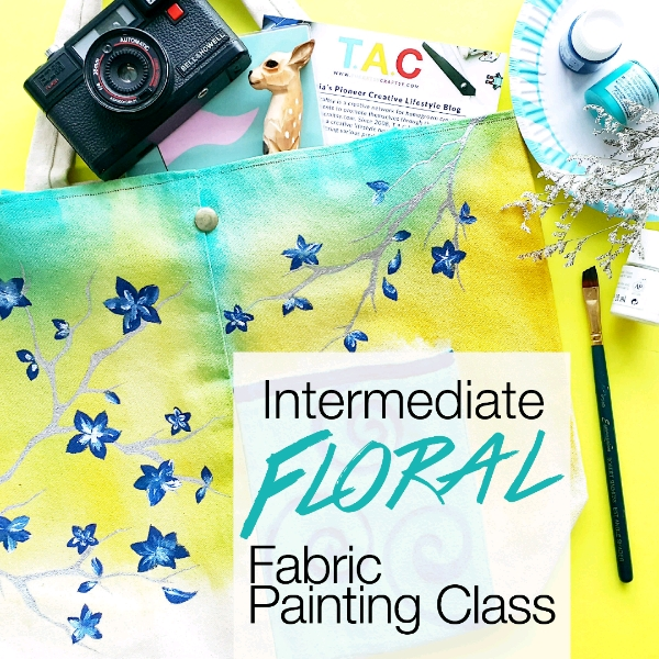 Intermediate Floral Fabric Painting Class