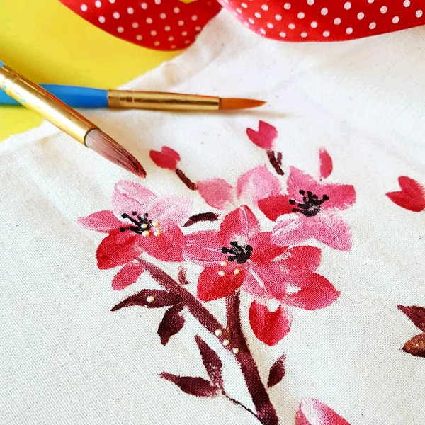 Intermediate Floral Fabric Painting Class1