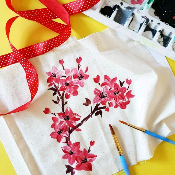 Intermediate Floral Fabric Painting Class3