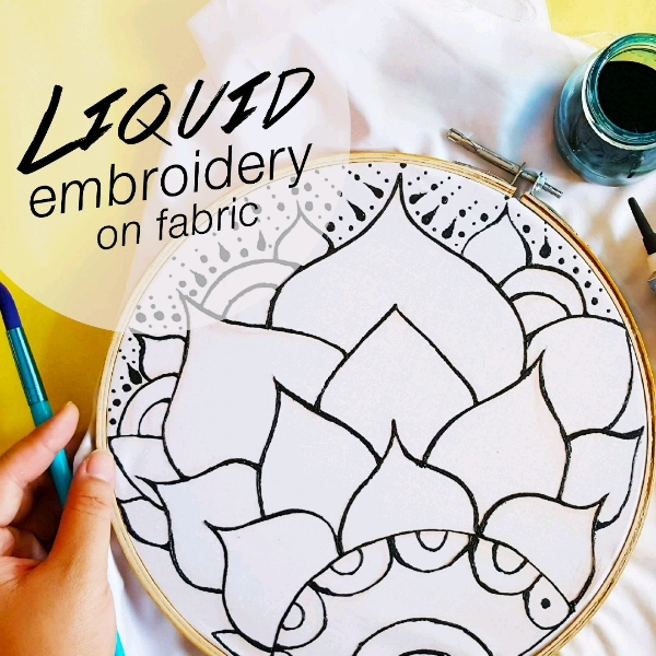 Wall Decor Liquid Embroidery Mini Workshop