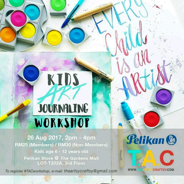 (MEMBERS) Kids Art Journaling Workshop0