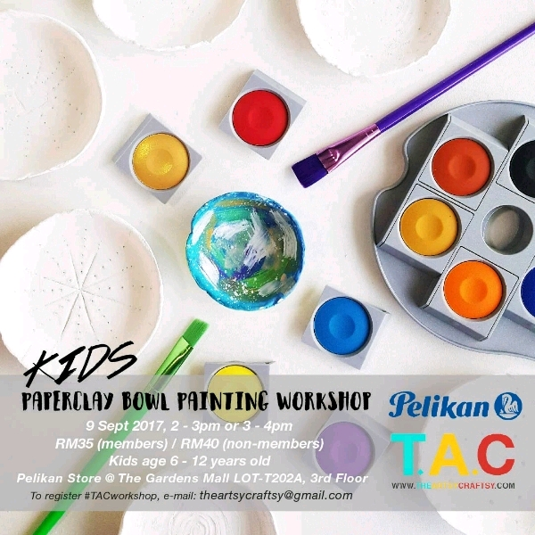 (Non Member) Kids Paperclay Bowl Painting
