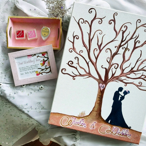Personalized Our Wedding Tree Guestbook Set0