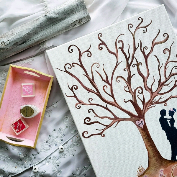 Personalized Our Wedding Tree Guestbook Set1
