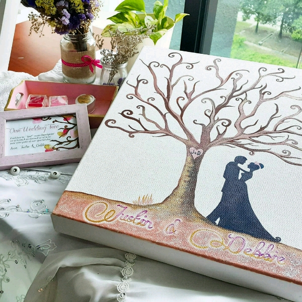 Personalized Our Wedding Tree Guestbook Set2