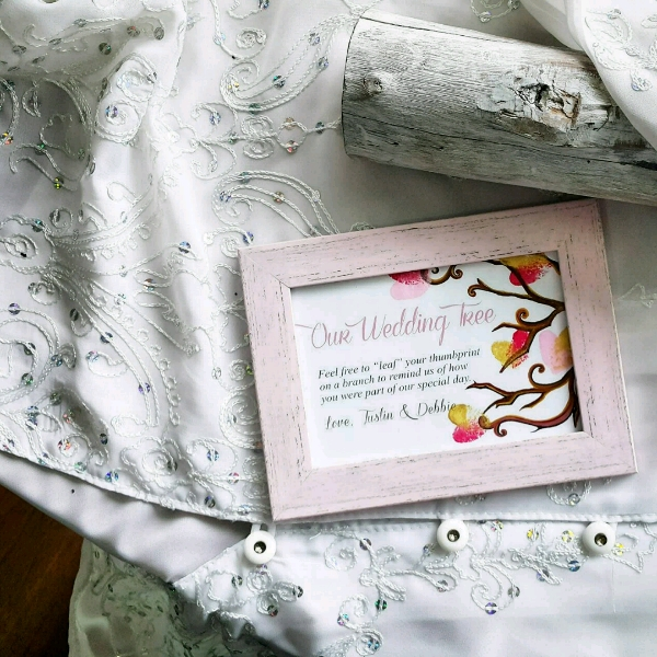 Personalized Our Wedding Tree Guestbook Set4