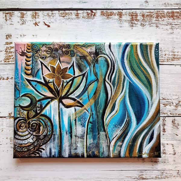 Transition (2021) Intuitive Art by Shia Lynn