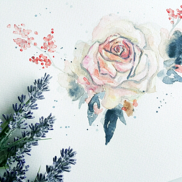 Watercolour Floral by Zoe @jyiwu.artisst1