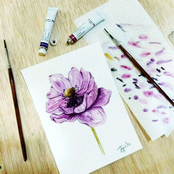Watercolour Floral by Zoe @jyiwu.artisst2