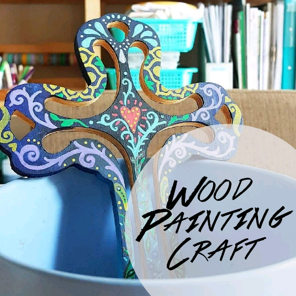 Floral Doodle Wood Painting Mini Workshop