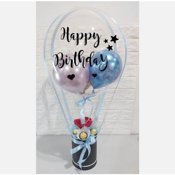 Light Blue Theme Hot Air Balloon Font Design 10