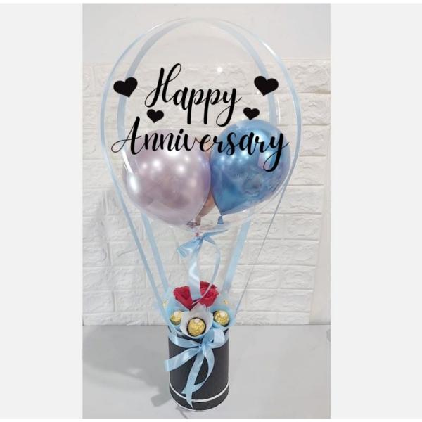 Light Blue Theme Hot Air Balloon Font Design 30