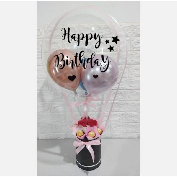 Light Pink Theme Hot Air Balloon Font Design 10