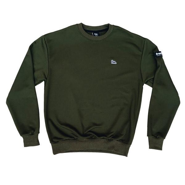 Frontman Crewneck Sweatshirt, Olive Green0