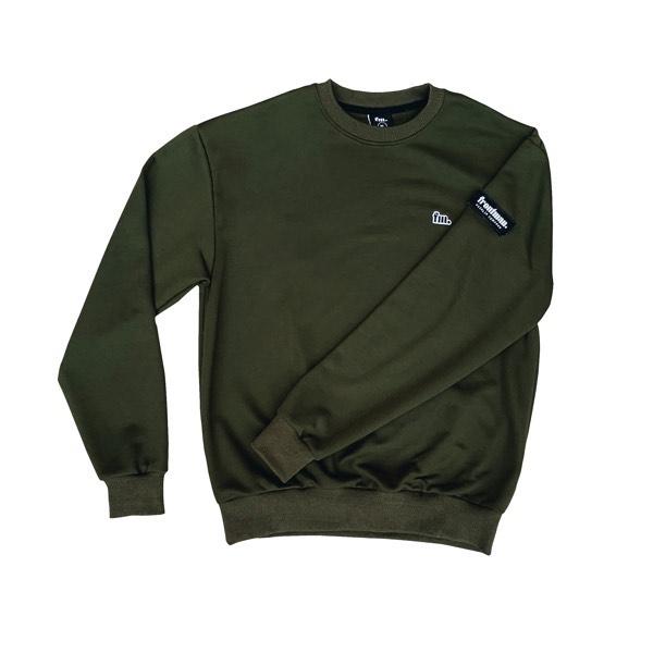 Frontman Crewneck Sweatshirt, Olive Green1