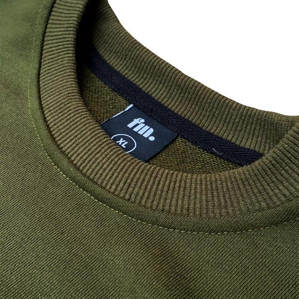 Frontman Crewneck Sweatshirt, Olive Green2