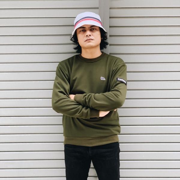 Frontman Crewneck Sweatshirt, Olive Green4