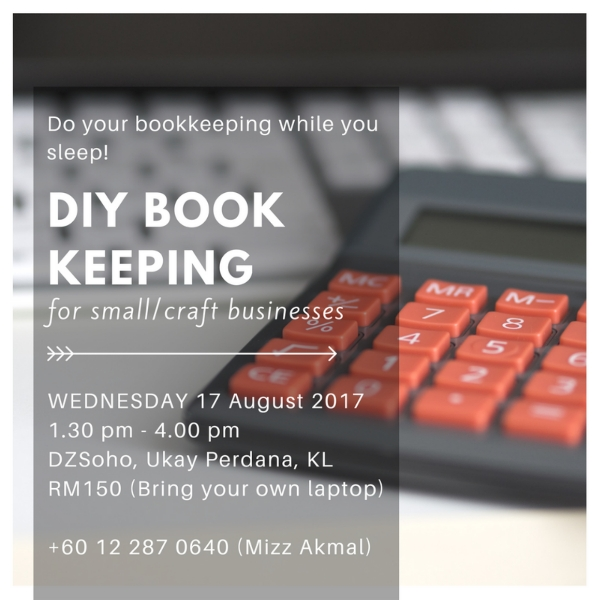 DIY Bookkeeping for Small/craft Biz