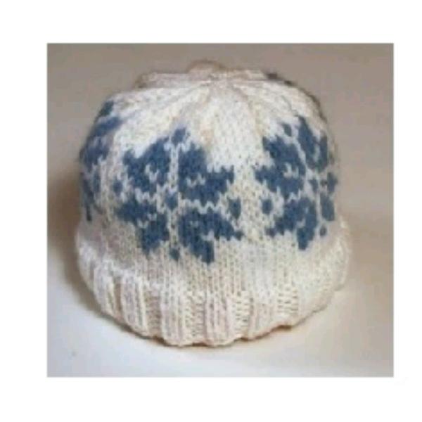 Portuguese Fair Isle - Snowflake Hat0