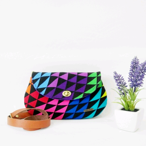 Colourful Curvy Sling Bag0