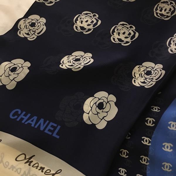 Chanel Signature & Flower Dark Blue0