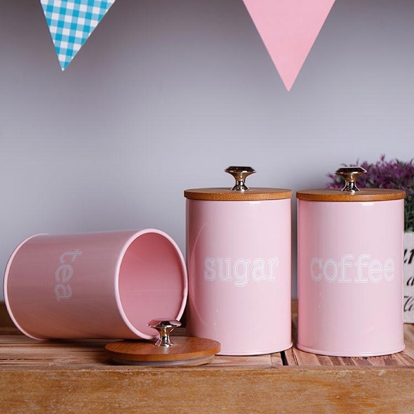 Canister-3 Pieces Pink0