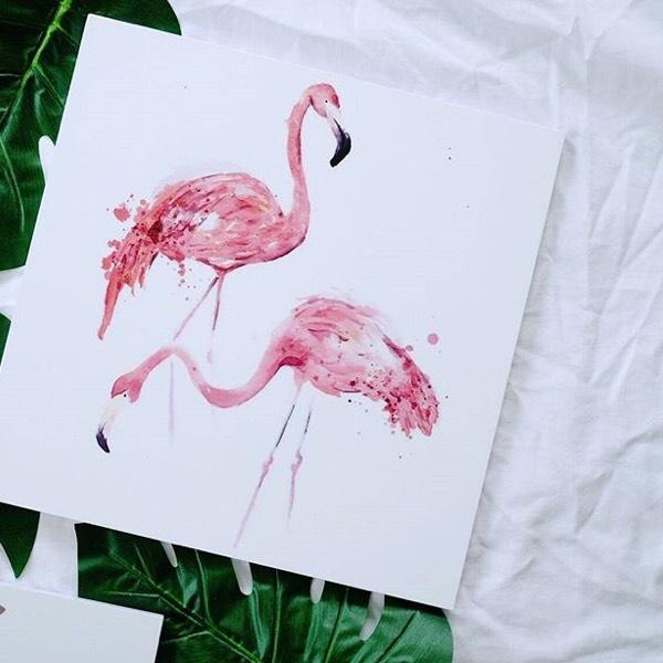 Painting - Flamingo0