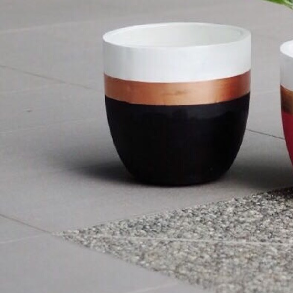 Vase - Concrete Black0