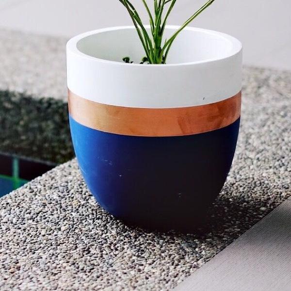 Vase - Concrete Blue0