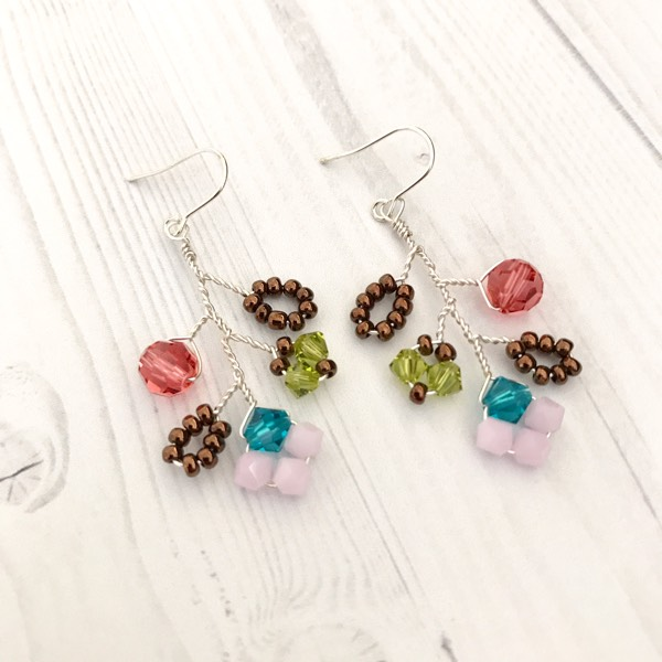 Autumn Garden Earrings With Silver Wire0