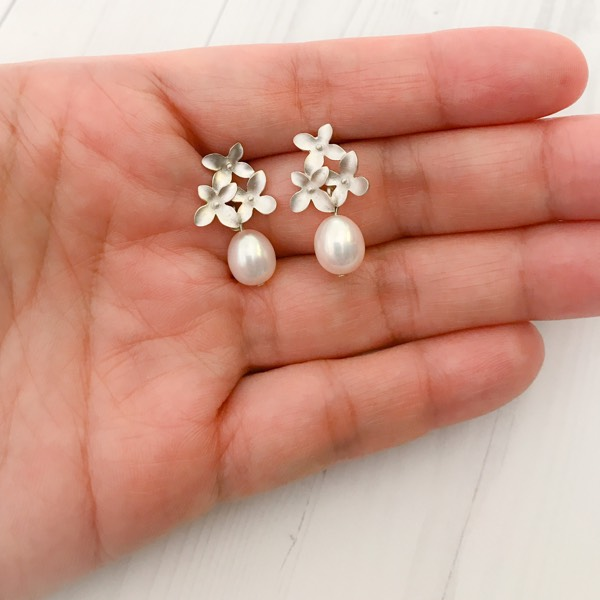 Cherry Blossom Freshwater Pearl Earrings ER202061