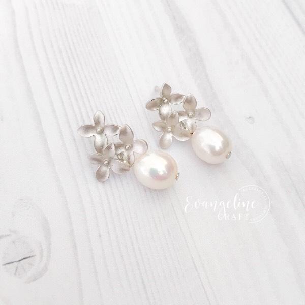 Cherry Blossom Freshwater Pearl Earrings ER202062
