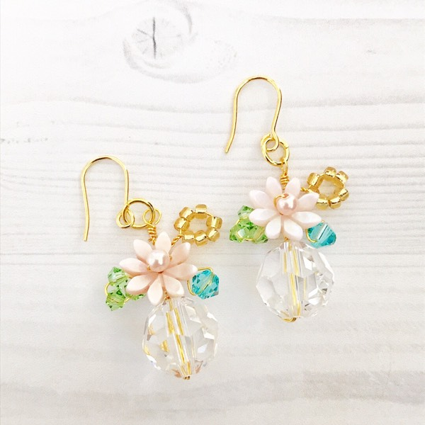 Flower Garden Earrings Blue/Green0