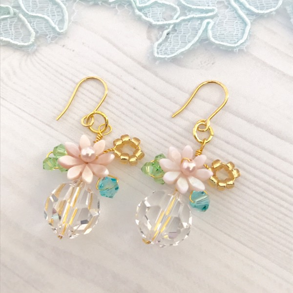 Flower Garden Earrings Blue/Green1