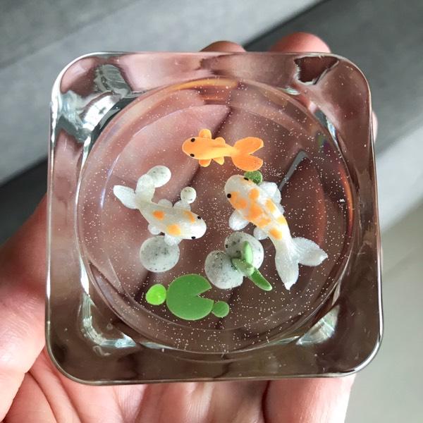 Mini Paperweight Koi Pond 0