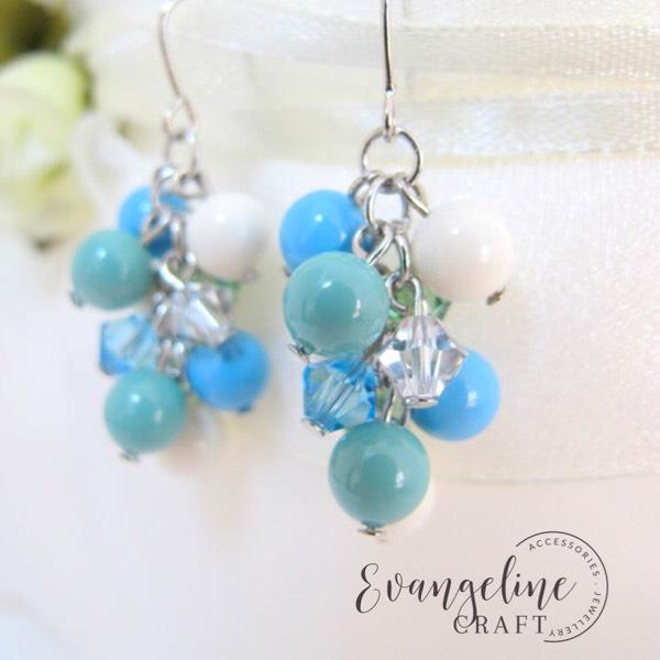 Ocean Pastel Dangle Earrings ER201890