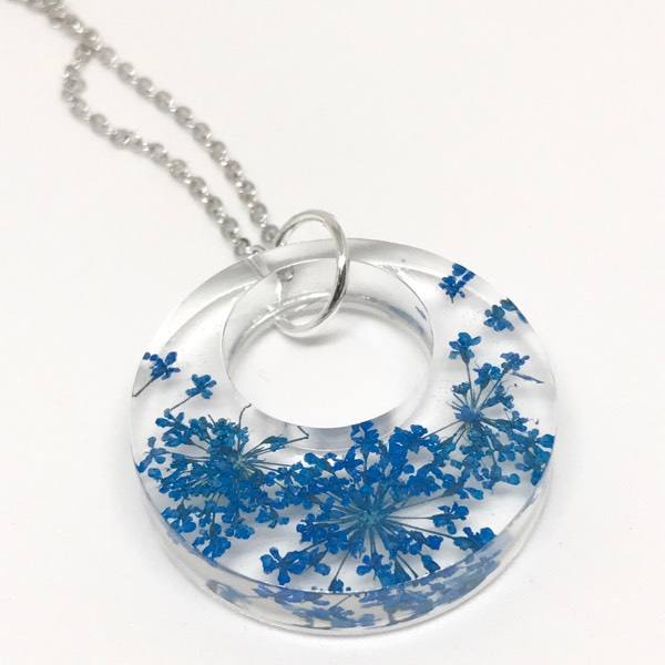 Pressed Flower Pendant Necklace1