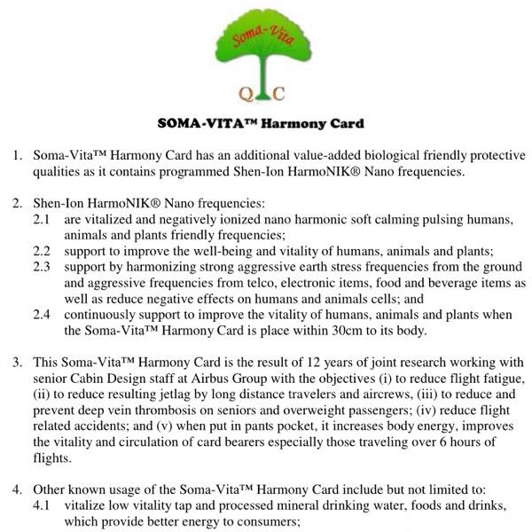 SOMA-VITA™ HARMONY CARD2