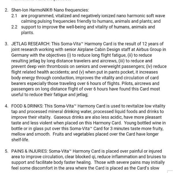 SOMA-VITA™ HARMONY CARD4