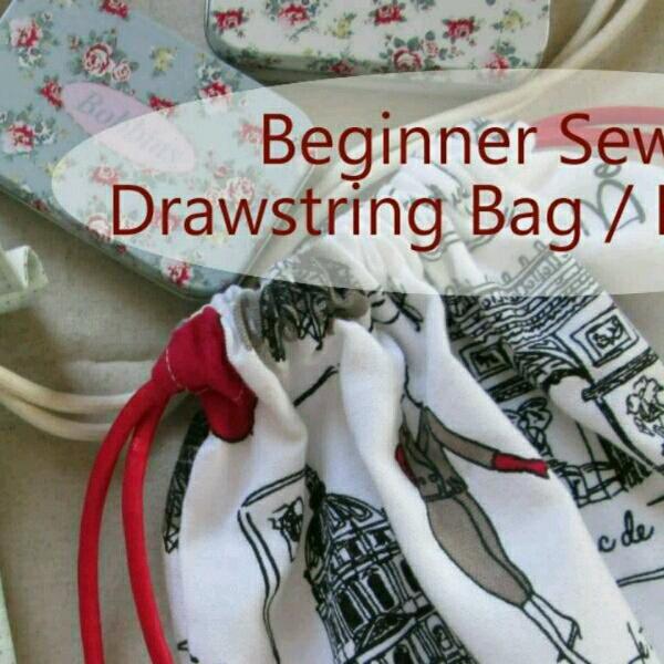 Drawstring Bag Pack & Zipper Pouch - Beginner Sewing0