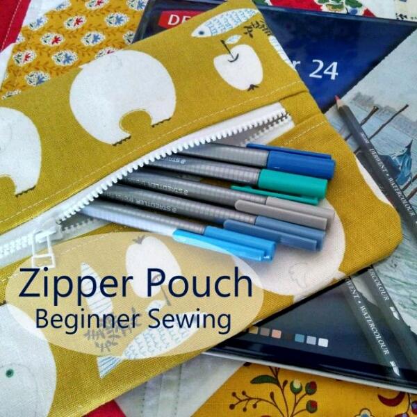 Drawstring Bag Pack & Zipper Pouch - Beginner Sewing1