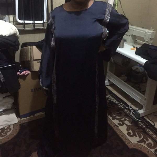 Straight Frill Shoulder Abaya 0