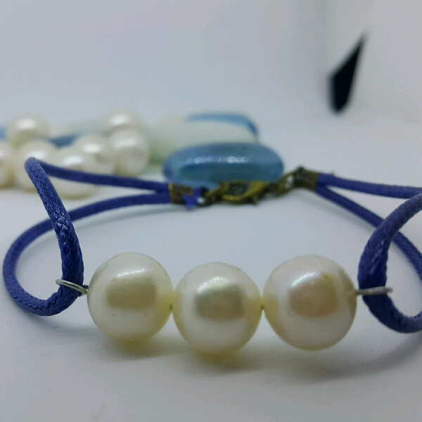 100% High Quality Sea Water Pearl Simple Bracelet0