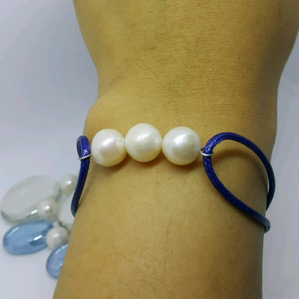 100% High Quality Sea Water Pearl Simple Bracelet1